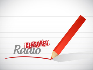 censored radio message illustration design