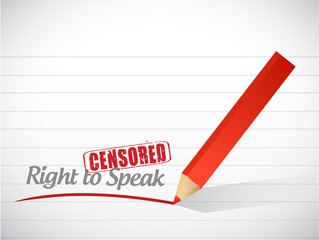 Right to speak censored message illustration