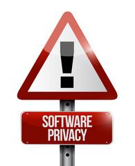 software privacy sign illustration design