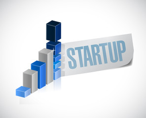 start up graph sign illustration design
