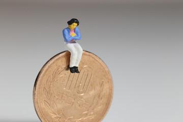 主婦と10円