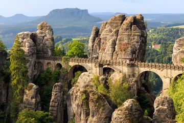 Bastion Bridge in Saxonia near Dresden