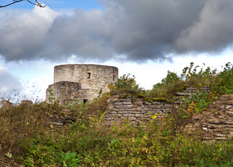 The ancient destroyed fortress. Petersburg. Russia. Koporye