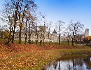 Russia. Saint-Petersburg. Gatchina. Autumn in palace park..