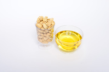 Health cashew nuts, olive oil, these are food for energy