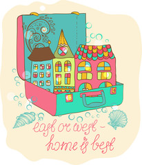 Color cartoon home