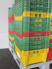 Colour plastic boxes
