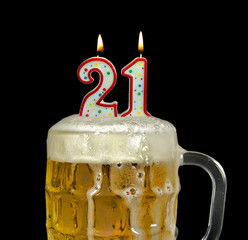 candles in beer for 21st birthday