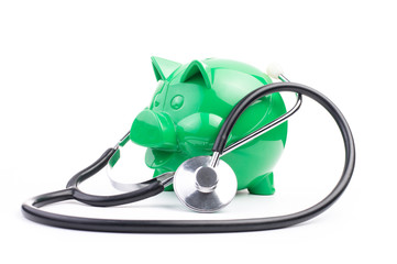 Piggy Bank With Stethoscope