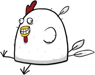 Happy fat chicken illustration