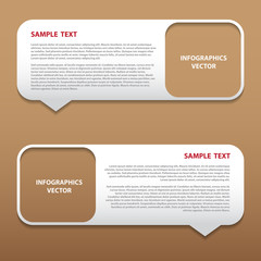 Vector infographics bubble tag