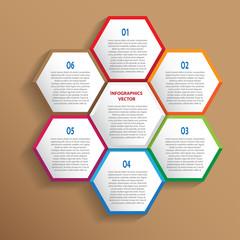 Vector modern infographics template