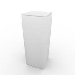 White empty rectangular package