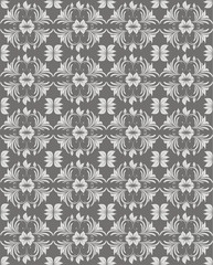 Light grey floral vector background