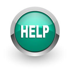 help green glossy web icon