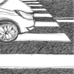 Pedestrian crossing sketch