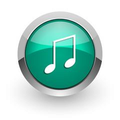 music green glossy web icon