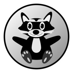 Raccoon button