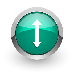 arrow green glossy web icon