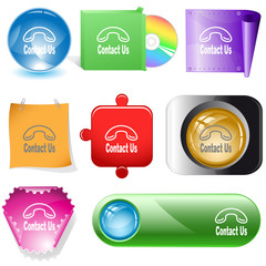 Contact us. Vector internet buttons.
