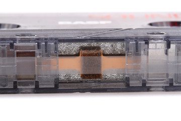 detail of old casette tape