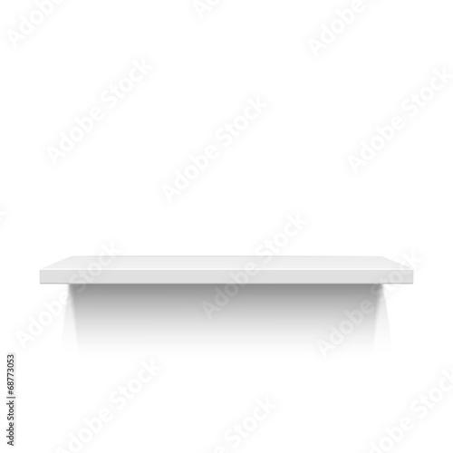White realistic shelf isolated on white background - 68773053