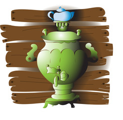 Green samovar