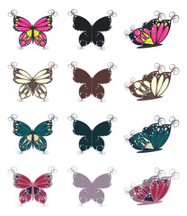 Colorful Butterflies Set