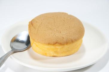 Chiffon cake with orange jam