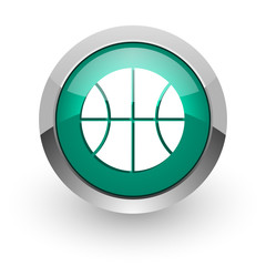 ball green glossy web icon