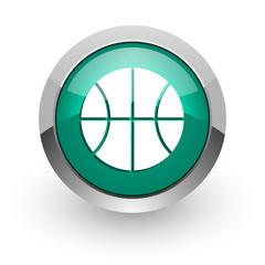ball green glossy web icon