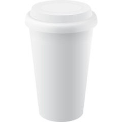 Coffee Cup with Lid, Vector