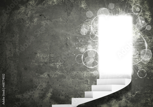 Foto op Aluminium Trappen Spiral stairs and magic doors