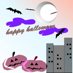 happy Halloween (black tone)