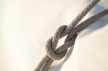 Reef knot or square knot, it was used for reefing sails