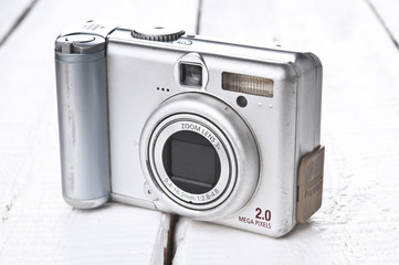 Old grunge compact photo camera