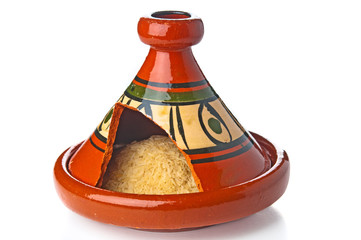Moroccan tagine with rice