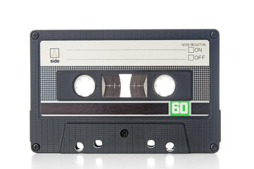 Old audio cassette closeup