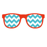 Glasses Icon in flat style