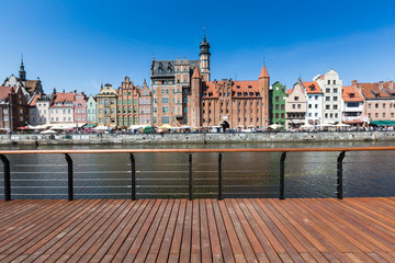 City of Gdansk,Poland. Panoramic view of Old Town houses