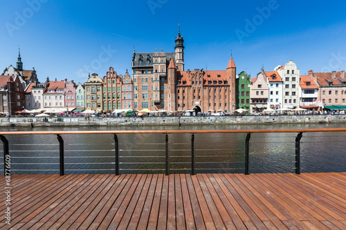 City of Gdansk,Poland. Panoramic view of Old Town houses - 68776609