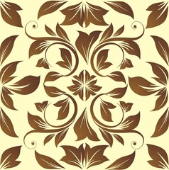 Brown floral vector background
