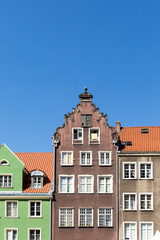 Colorful houses in Gdansk, Poland