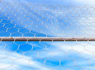 soccer ball goal net