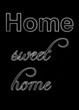 canvas print picture - Tafel home sweet home