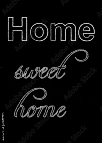 canvas print picture Tafel home sweet home