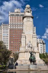 Monumento a Cervantes, Plaza España, Madrid