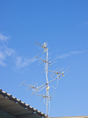 Classical television antenna on roof top