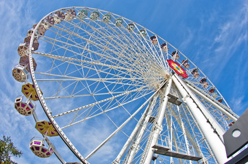 Giant wheel in Prater amusement park at Vienna
