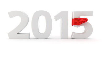 Year 2015 with ribbon